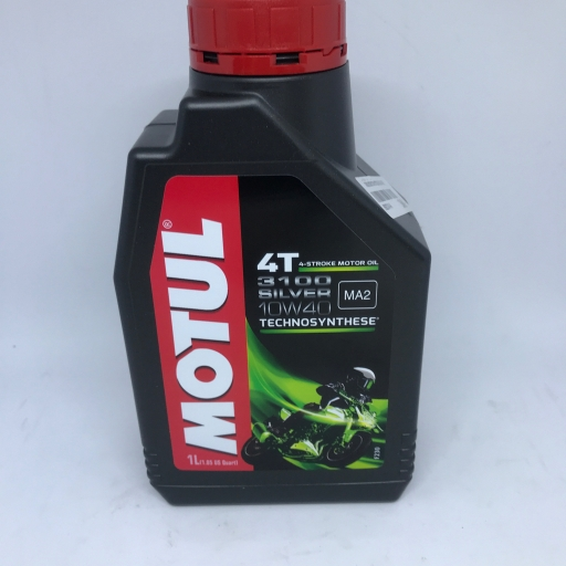 น้ำมันหล่อลื่น เครื่องยนต์รถจักรยานยนต์ 4 จังหวะทุกประเภท Motul 3100 Silver 4T 10W40 1L
